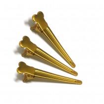 金色髮夾(小)3入